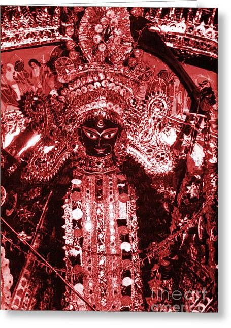 Warrior Goddess Greeting Cards - Durga Greeting Card by Photo Researchers