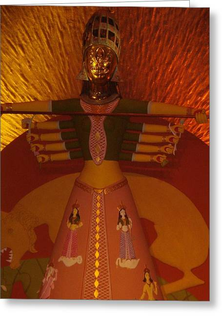 Prasenjit Dhar Mixed Media Greeting Cards - Durga Greeting Card by Prasenjit Dhar