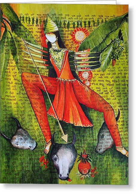 Durga Greeting Cards - Durga Greeting Card by Shobha Goswami