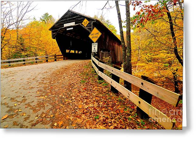 Catherine Reusch Daley Fine Artist Greeting Cards - Durgin Bridge Greeting Card by Catherine Reusch  Daley