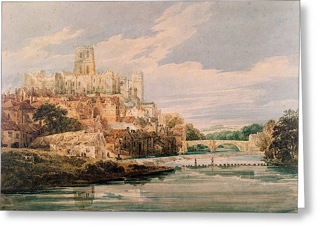 Durham Castle And Cathedral Greeting Card by Thomas Girtin