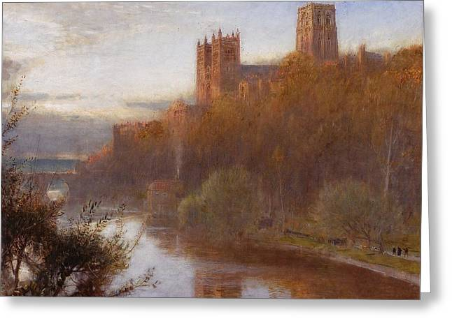 Goodwin Greeting Cards - Durham Cathedral Greeting Card by Albert Goodwin