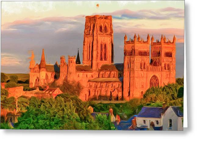 Classic Architecture Greeting Cards - Durham Cathedral Greeting Card by Tom Gowanlock
