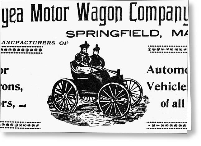 American Automobiles Greeting Cards - Duryea Motor Wagon Company Greeting Card by Granger