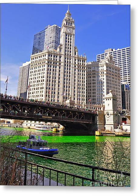 Patrick Willis Greeting Cards - DuSable Bridge Chicago Greeting Card by Dejan Jovanovic