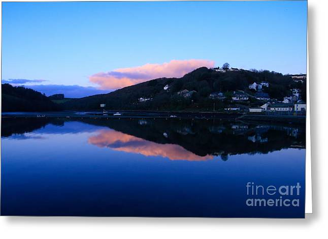 Kernow Greeting Cards - Dusk at Looe Greeting Card by Carl Whitfield