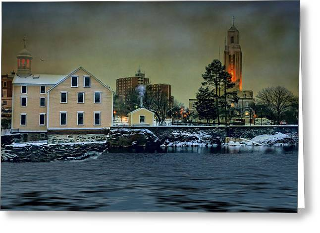 Robin-lee Greeting Cards - Dusk by the River Greeting Card by Robin-lee Vieira