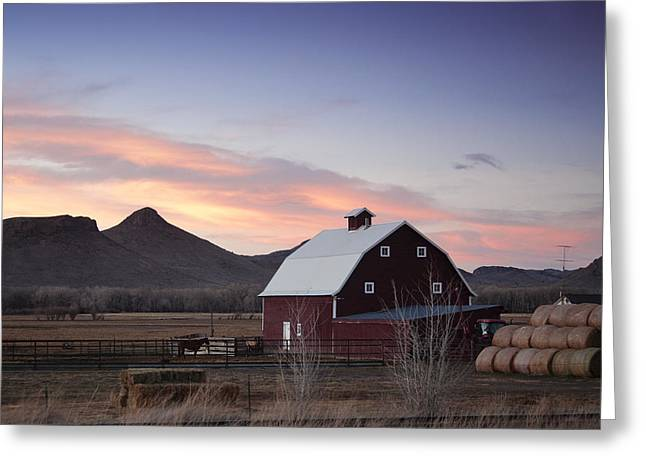 Sunset Photos Greeting Cards - Dusk in the Country Greeting Card by Andrew Soundarajan