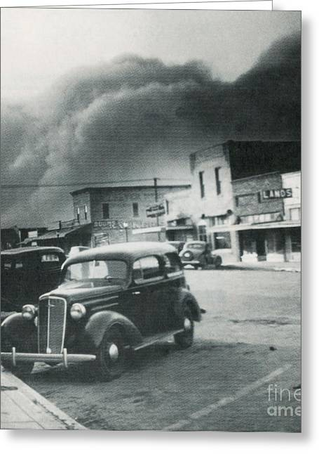 Devastation Greeting Cards - Dust Bowl Of The 1930s, Elkhart, Kansas Greeting Card by Science Source