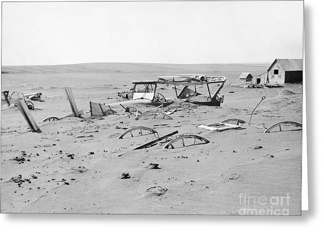 Devastated Greeting Cards - Dust Bowl Greeting Card by Omikron