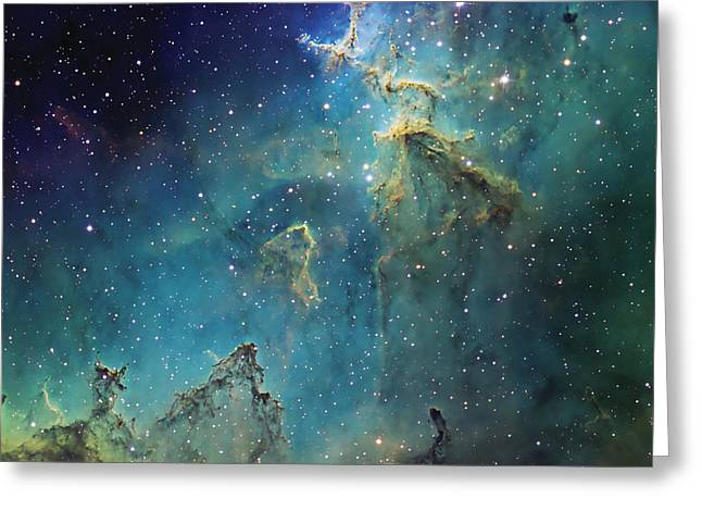 Interstellar Medium Greeting Cards - Dust Columns As Part Of The Melotte 15 Greeting Card by Don Goldman