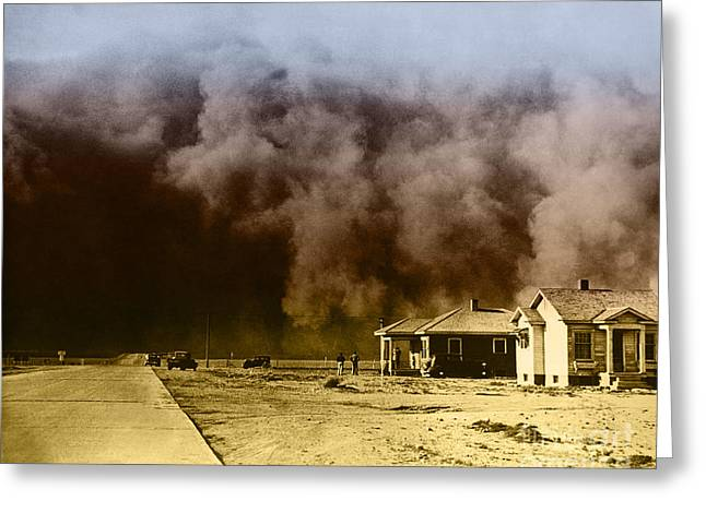Sandstorm Greeting Cards - Dust Storm, 1930s Greeting Card by Omikron