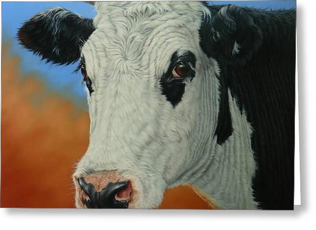 Margaret Stockdale Greeting Cards - Dust Storm-Portrait of Pet Greeting Card by Margaret Stockdale