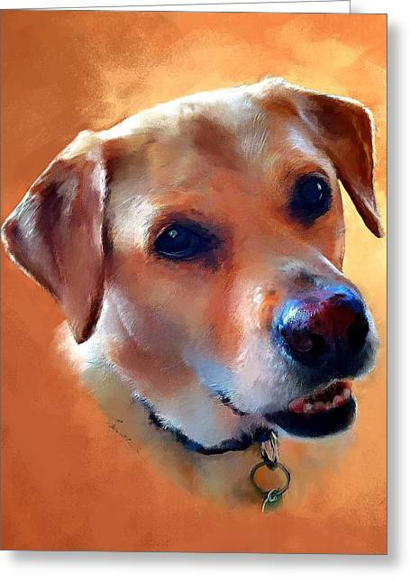 Labrador Greeting Cards - Dusty Labrador Dog Greeting Card by Robert Smith