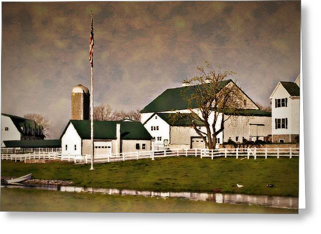 Amish Farms Greeting Cards - Dutch Country Farm Greeting Card by Kathy Jennings