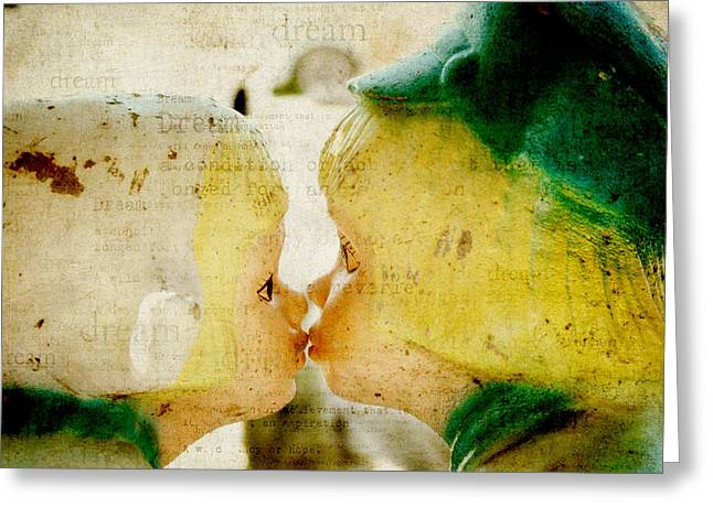 Textured Photograph Greeting Cards - Dutch Kids Dream Greeting Card by Toni Hopper