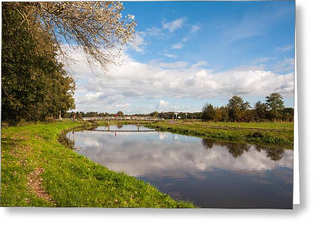 Herfst Greeting Cards - Dutch landscape in the  autumn season Greeting Card by Ruud Morijn