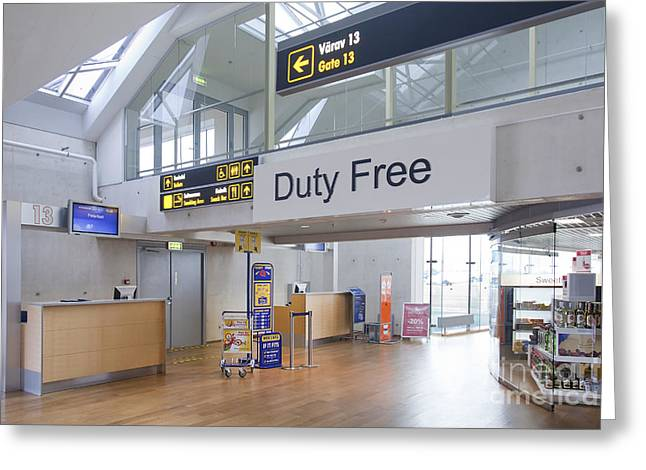 Duty Free Shop at an Airport Greeting Card by Jaak Nilson