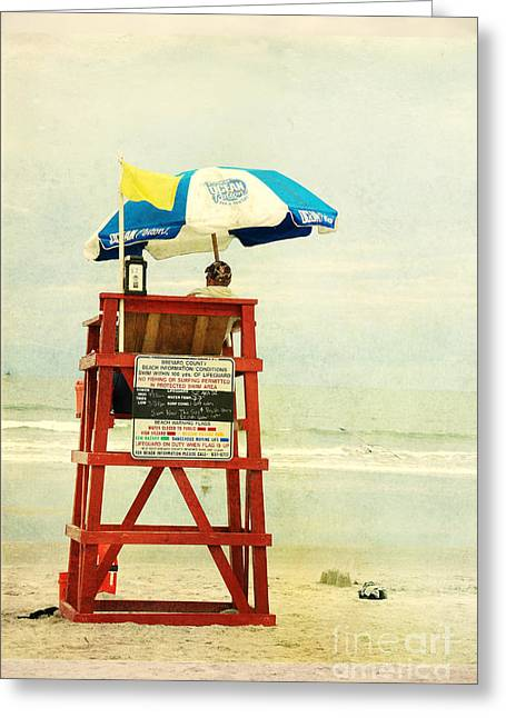 Florida East Coast Greeting Cards - Duty Time Greeting Card by Susanne Van Hulst
