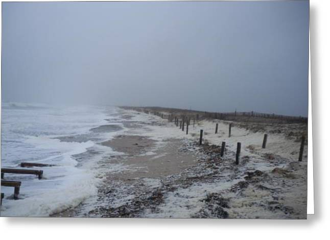 Duxbury Greeting Cards - Duxbury Beach Foam 2 Greeting Card by Conor Murphy