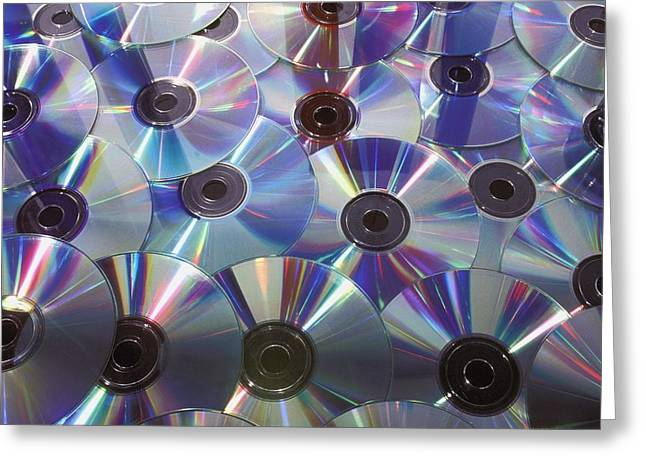 Music Cds Greeting Cards - Dvds And Cds Greeting Card by David Chapman
