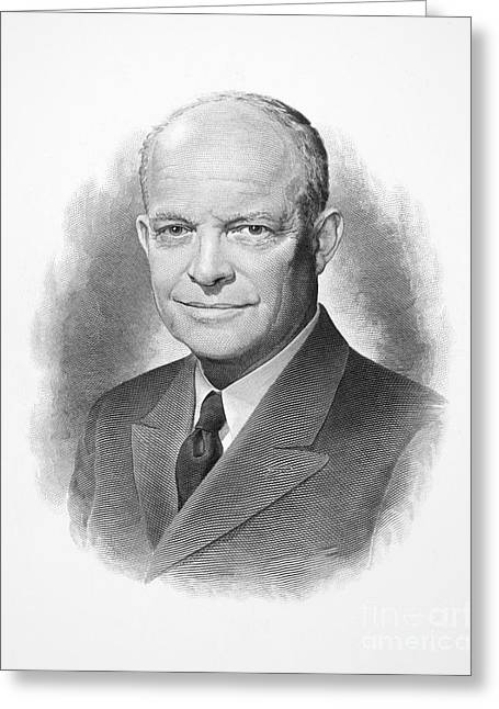 20th President Greeting Cards - Dwight D. Eisenhower Greeting Card by Granger