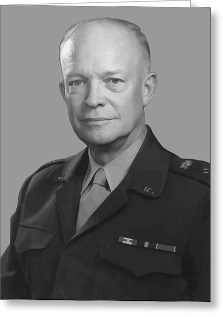 American Generals Greeting Cards - Dwight D. Eisenhower  Greeting Card by War Is Hell Store