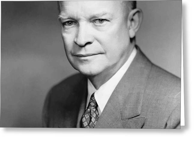 Dwight Eisenhower Greeting Card by War Is Hell Store