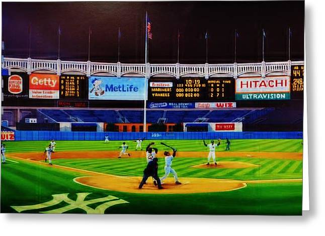 Hitter Paintings Greeting Cards - Dwight Goodens No No Greeting Card by T Kolendera