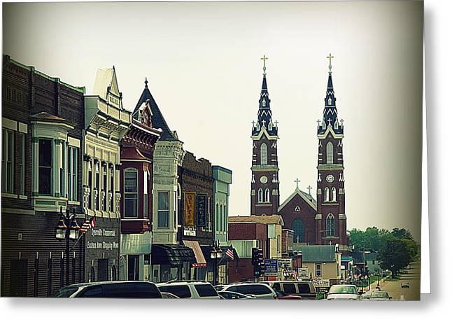 Dyersville in Iowa Greeting Card by Susanne Van Hulst