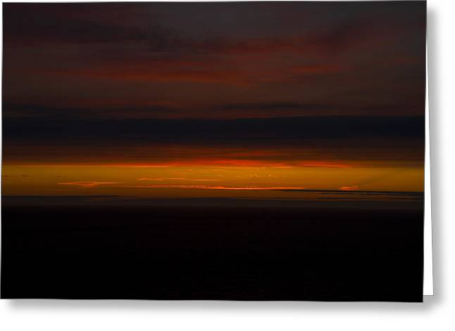 Cliffs Over Ocean Greeting Cards - Dying Embers Greeting Card by Paul Howarth