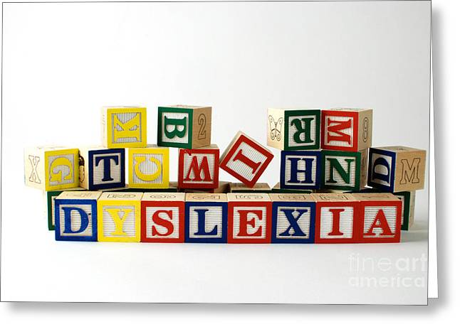 Disability Photographs Greeting Cards - Dyslexia Greeting Card by Photo Researchers, Inc.