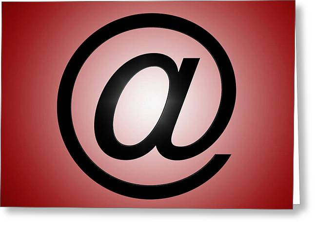 Email Greeting Cards - E-mail Symbol Greeting Card by