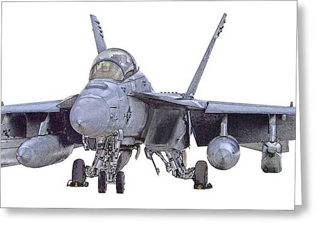 Fa-18 Greeting Cards - EA-18G Up and Ready Greeting Card by Clay Greunke