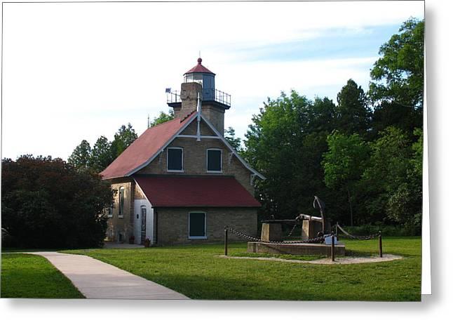 Eagle Bluff Lighthouse Greeting Cards - Eagle Bluff Lighthouse Greeting Card by Matthew Winn