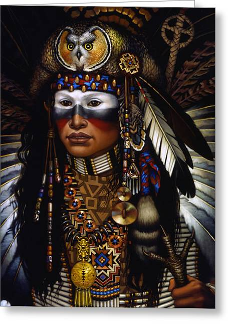 Native-american Greeting Cards - Eagle Claw Greeting Card by Jane Whiting Chrzanoska