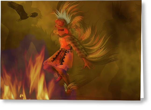 Kachina Greeting Cards - Eagle Dancer Greeting Card by Carol and Mike Werner