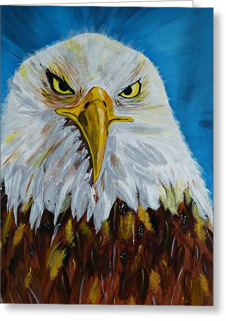 Gruenwald Greeting Cards - Eagle Greeting Card by Ismeta Gruenwald