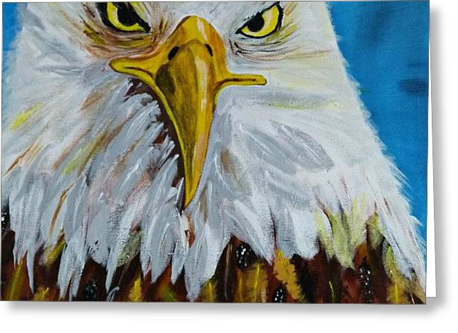 Eagle Greeting Card by Ismeta Gruenwald