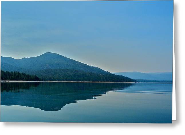 Eagle Lake Blues Greeting Card by Kirsten Giving