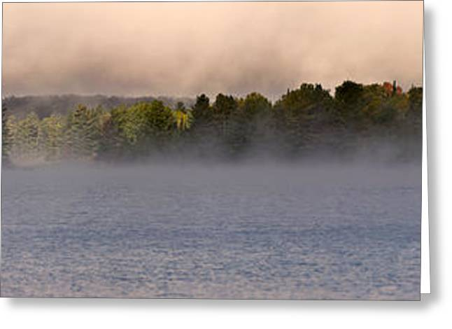 Dew Greeting Cards - Eagle Lake Panorama Greeting Card by Cale Best