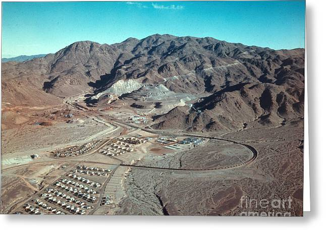 Lanscape Greeting Cards - Eagle Mountain Mine, Mid-century Greeting Card by Photo Researchers