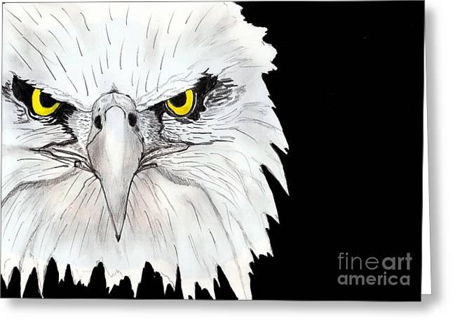 Eagle Greeting Card by Shashi Kumar