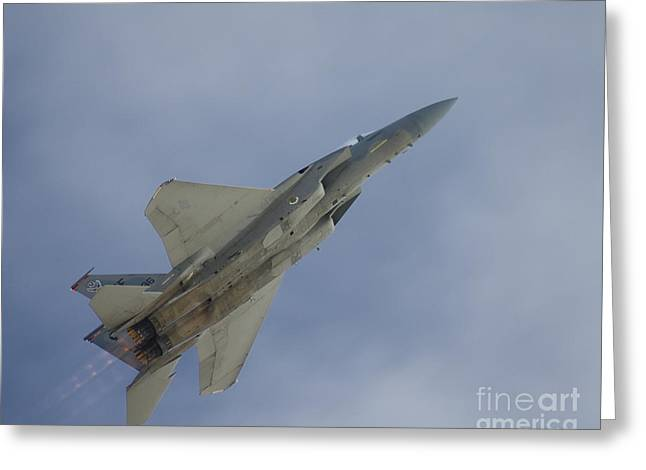 Us Air Force Greeting Cards - Eagle Takeoff Greeting Card by Tim Mulina