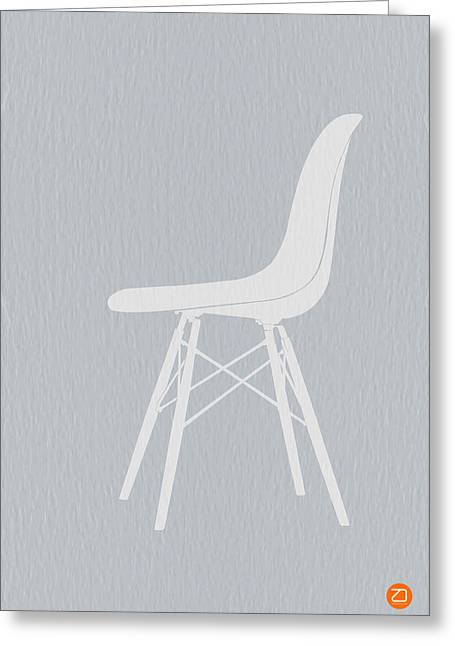 Eames Greeting Cards - Eames Fiberglass Chair Greeting Card by Naxart Studio