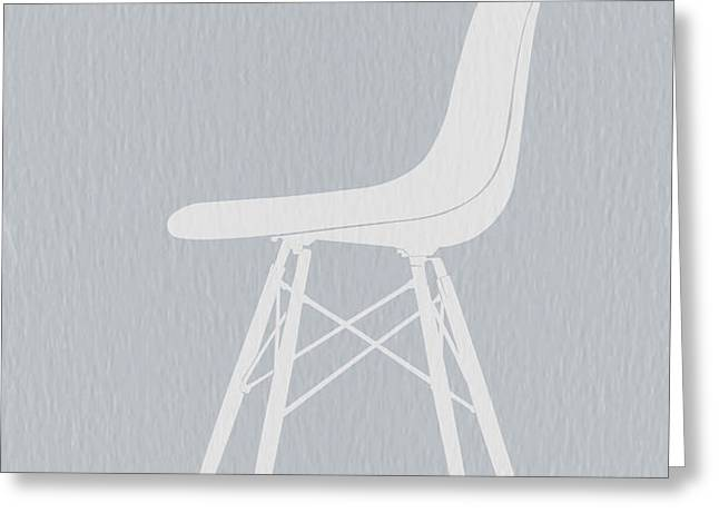 Eames Fiberglass Chair Greeting Card by Naxart Studio