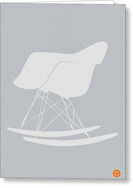 Dwell Digital Art Greeting Cards - Eames Rocking Chair Greeting Card by Naxart Studio