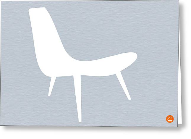 Eames white chair Greeting Card by Naxart Studio