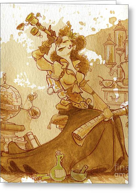Staff Picks - Greeting Cards - Earl Grey Greeting Card by Brian Kesinger