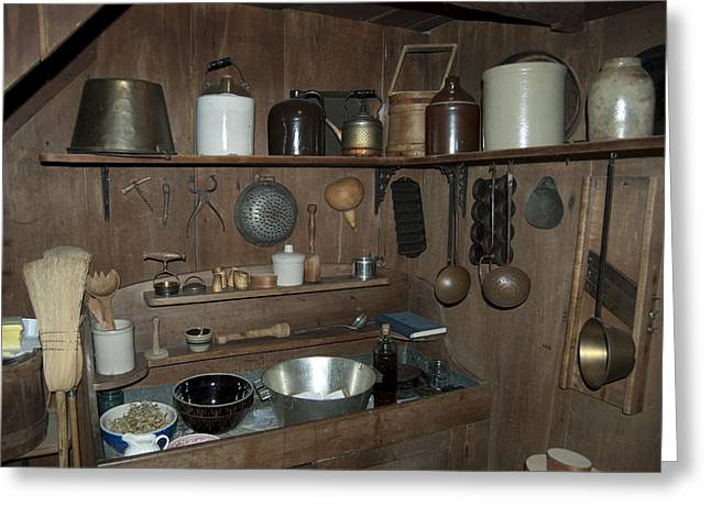 Early Sink Greeting Cards - Early American Utensils Greeting Card by Michael Peychich